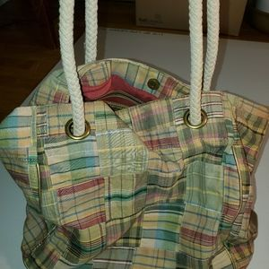 Ann Taylor LOFT quilted tote